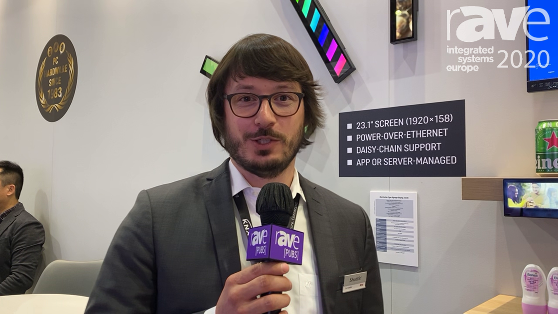 ISE 2020: Shuttle Expos D230 Digital Signage Bar with Integrated PC, Camera for Audience Detection