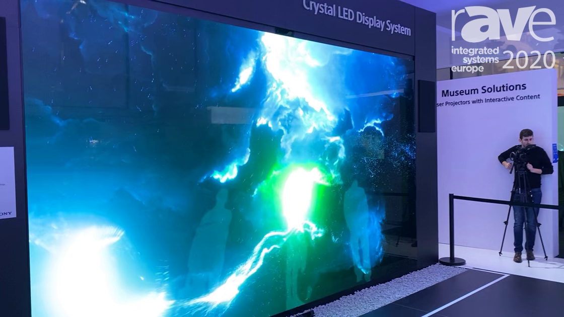 ISE 2020: Sony Demos the Crystal LED in a Cool Gesture-Based Application