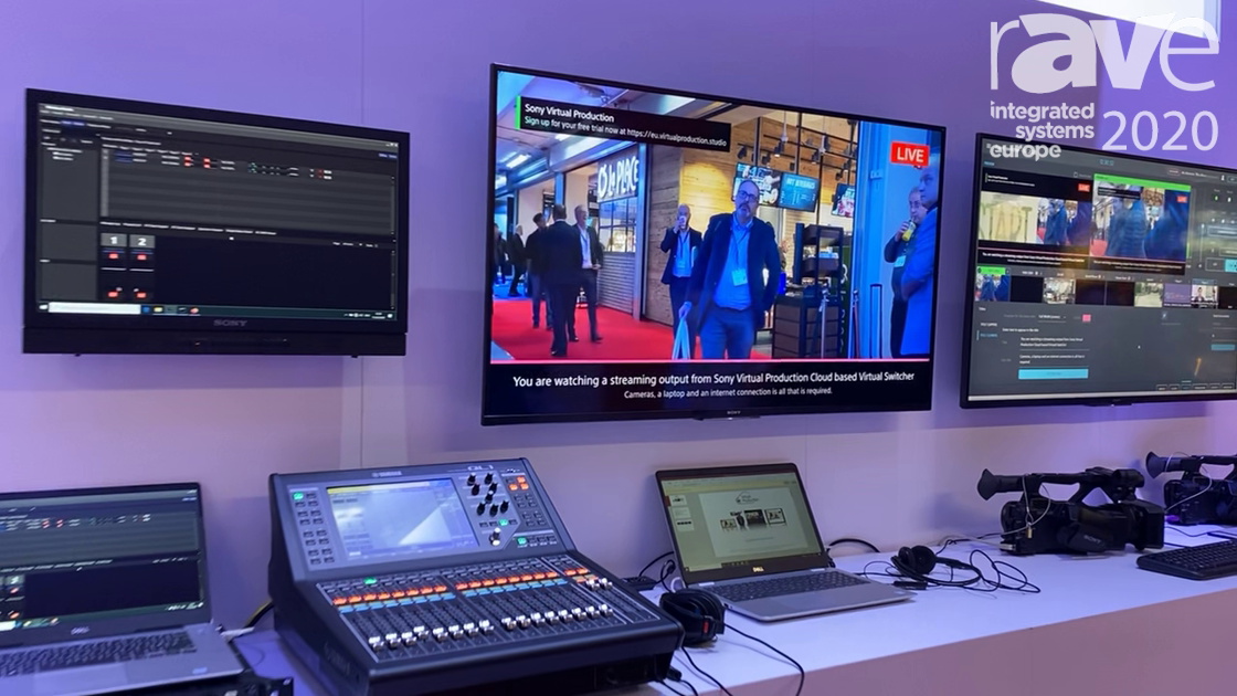 ISE 2020: Sony Showcases the Virtual Production Cloud-Based Virtual Switcher