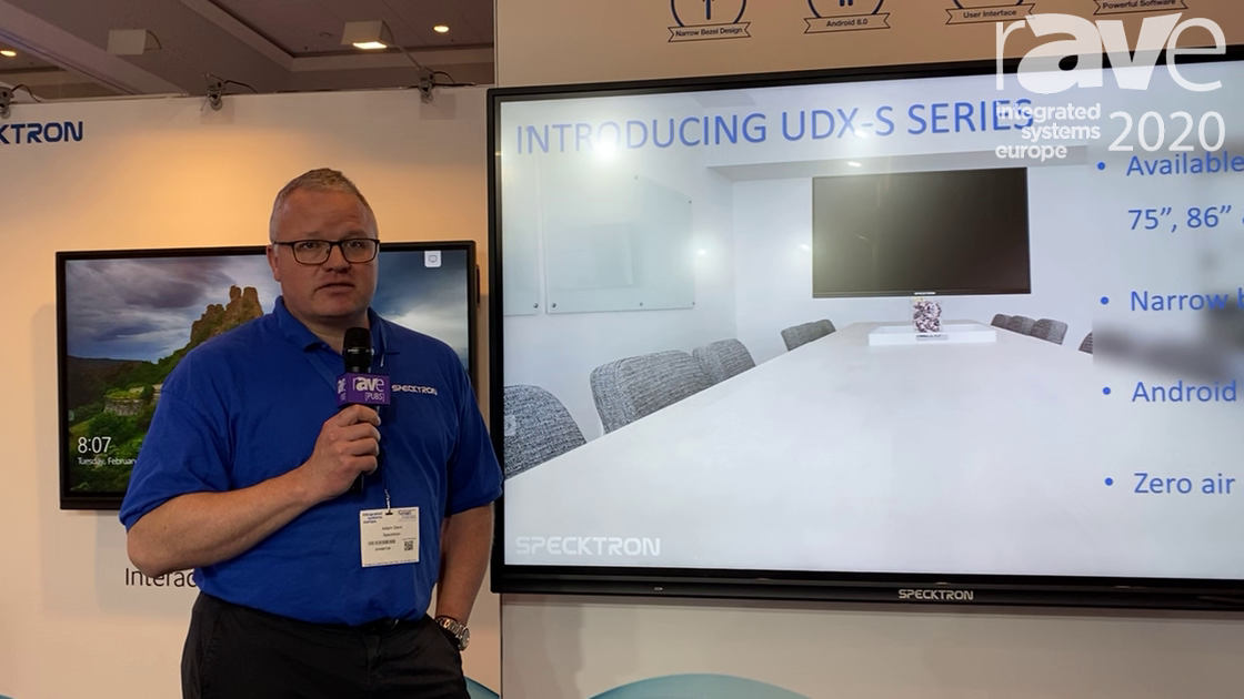 ISE 2020: Specktron Shows Off UDX-S Series Optically Bonded Touch Display with No Dust Intrusion