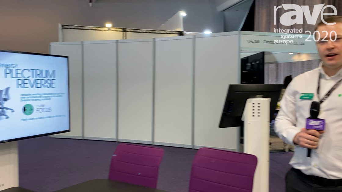 ISE 2020: TOP-TEC Displays Improved Synergy Range of Integrated Collaborative Workspace Furniture