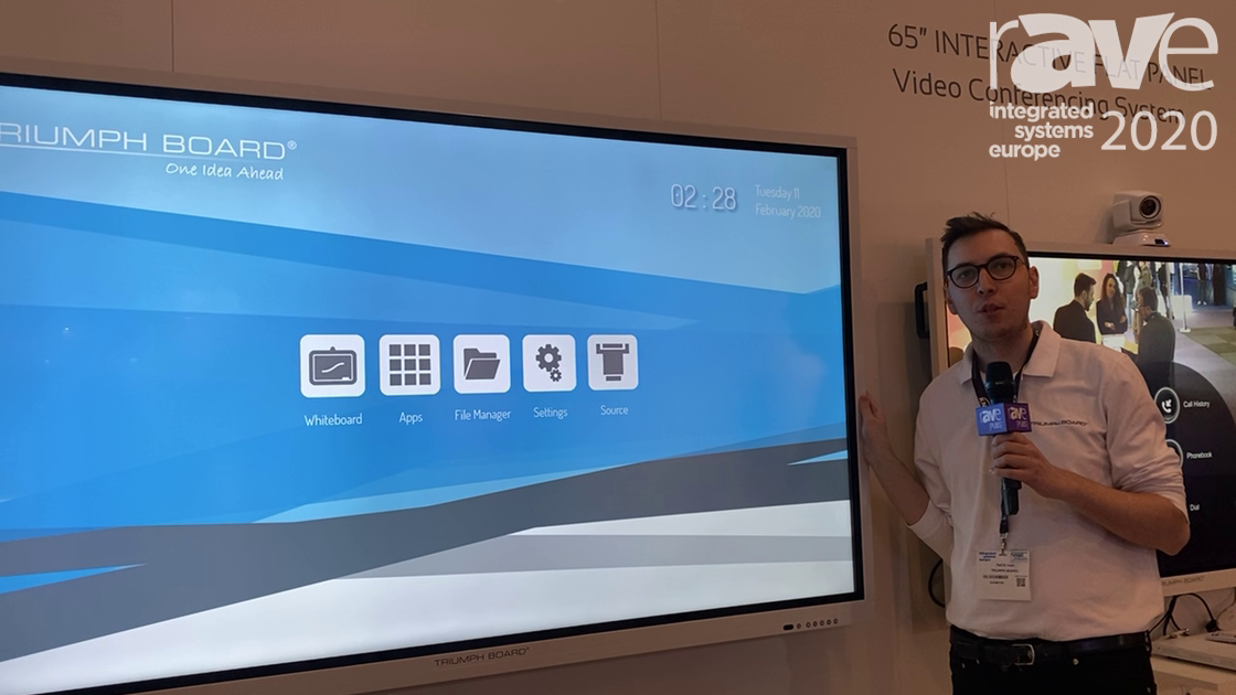 ISE 2020: TRIUMPH BOARD Features Its Interactive Flat Panel with Touch and Android 8.0