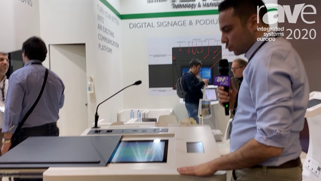 ISE 2020: Temas Technology Discusses ML22I Digital Podium Solution with Touchscreen Controller