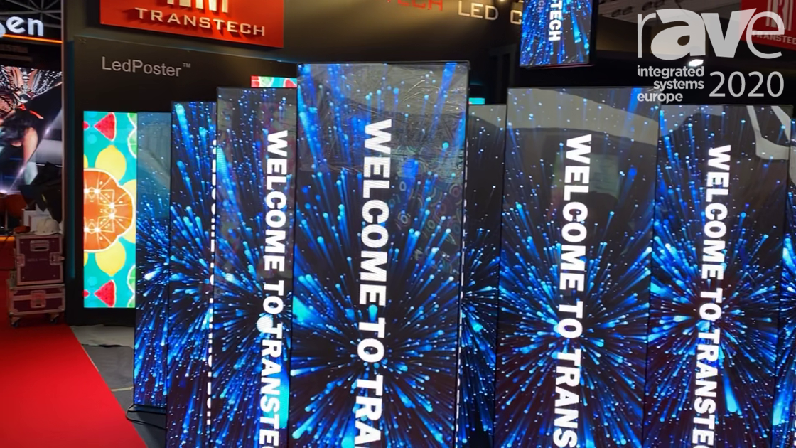 ISE 2020: TransTech LED Showcases iPoster Indoor LED Posters