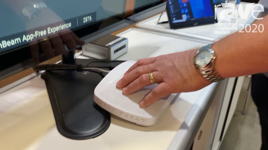 ISE 2020: ScreenBeam Shows Off ScreenBeam 1100 Wireless Collaboration Device