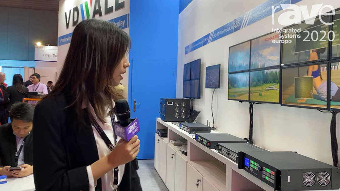 ISE 2020: VDWALL Showcases the D6000 4K 12×16 Multi-Window Processor