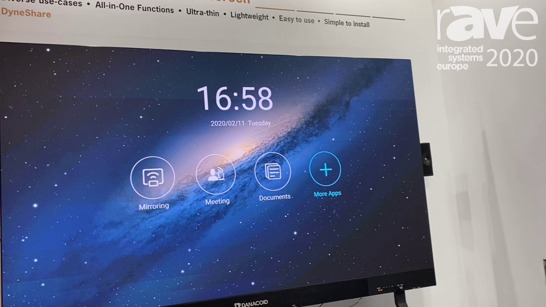 ISE 2020: Danacoid Multimedia Shows Intelligent Conference LED All-in-One Screen With Mirroring