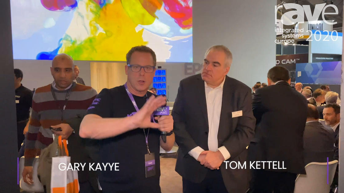 ISE 2020: Epson Director of Sales Tom Kettell Gives Gary Kayye an ISE Booth Tour