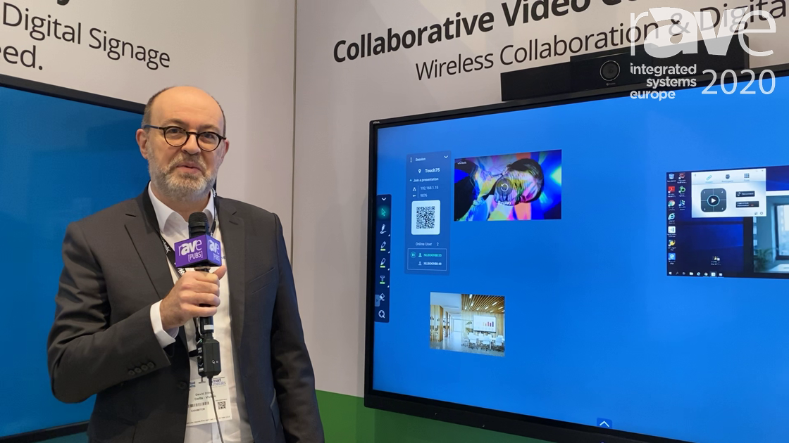 ISE 2020: Vivitek Intros NovoTouch Corporate Video Conference Touch Panel With Document Management
