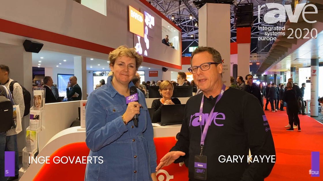 ISE 2020: Gary Kayye Gets the Ultimate Barco Booth Tour from Inge Govaerts