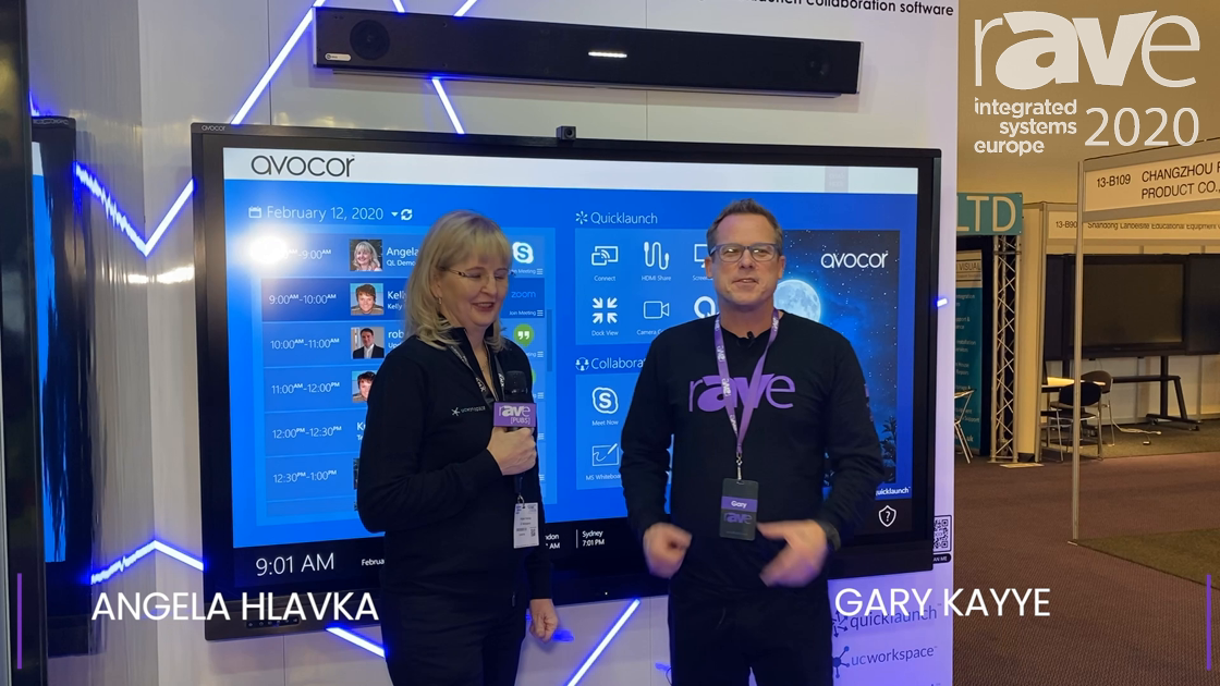 ISE 2020: UCWorkspace Was in the Avocor Stand Demoing UC Central Management Platform for UCC