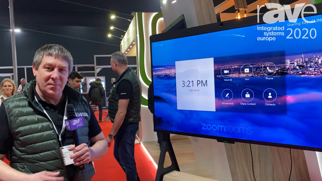 ISE 2020: Dten Shows Off the Dten D7 All-in-One Zoom Room Appliance Displays
