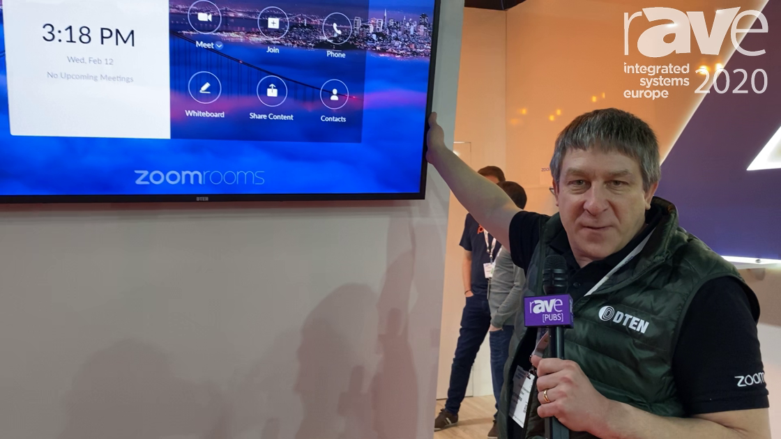 ISE 2020: Dten Features the Dten ON All-in-One Zoom Room Appliance Display