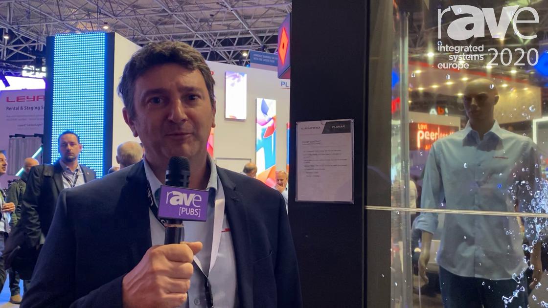 ISE 2020: Leyard Planar Showcases LO55 LookThru Transparent OLED Display