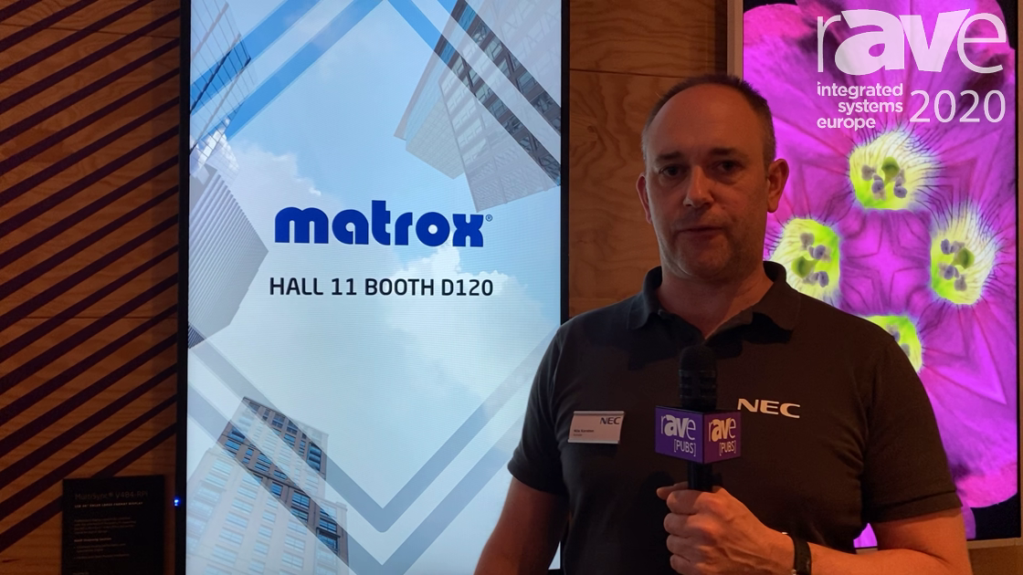 ISE 2020: NEC Display Partners With Matrox for AV-Over-IP Streaming via NEC Media Player