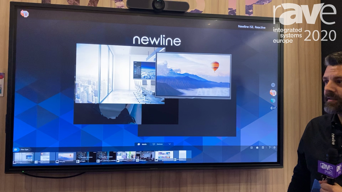 ISE 2020: Newline Interactive Shows NAOS IP Series of PCAP Optical Bonded Interactive Display