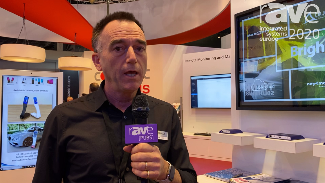 ISE 2020: BrightSign Intros BSN.Cloud Digital Signage Service on the COMM-TEC Exertis Stand