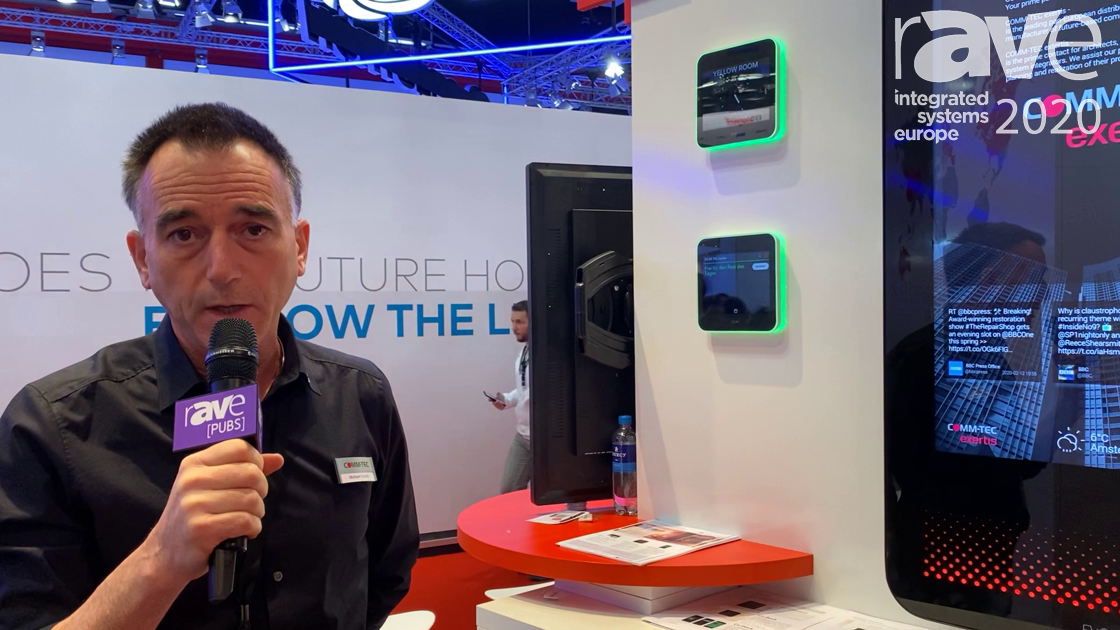 ISE 2020: Evoko Shows Pusco Indoor Display for Employee Communication on the COMM-TEC Exertis Stand