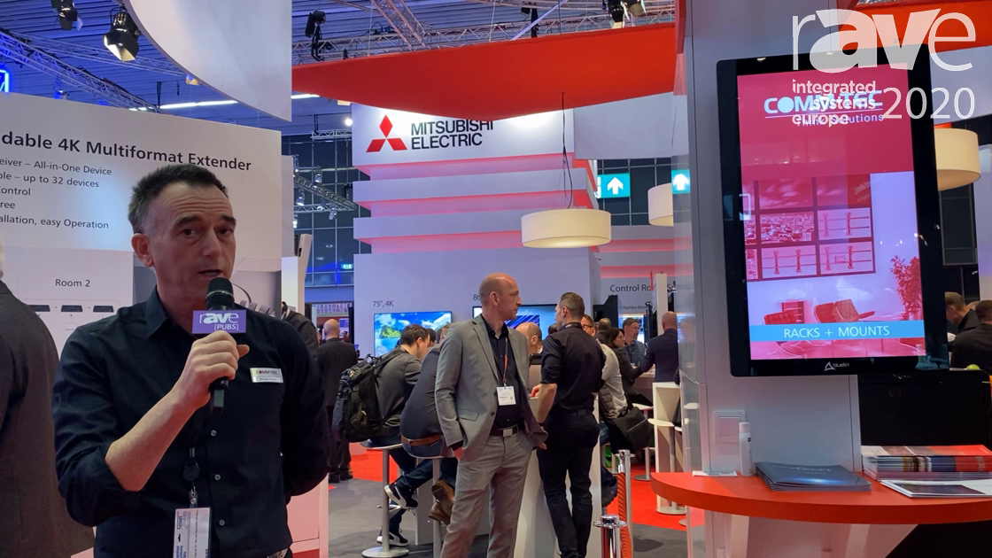 ISE 2020: UniTech Systems Shows Off the TV Lift Systems on the COMM-TEC Exertis Stand