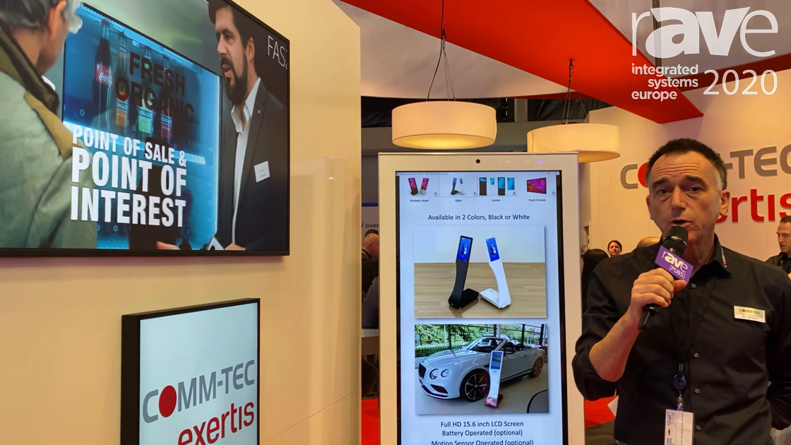 ISE 2020: Zynage Features Digital Signage Displays on the COMM-TEC Exertis Stand
