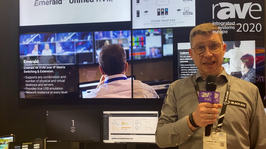 ISE 2020: Black Box Showcases Its Emerald Unified KVM AV-Over-IP System