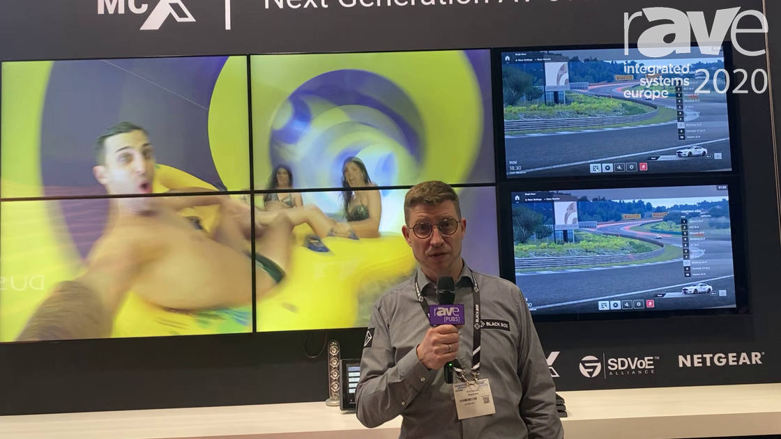ISE 2020: Black Box Demos the MCX S9 4K60 Network AV Encoder/Decoder