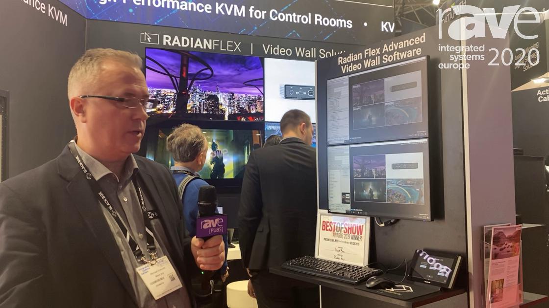 ISE 2020: Black Box Demos How the Radian Flex Advanced Video Wall Software Solution Works