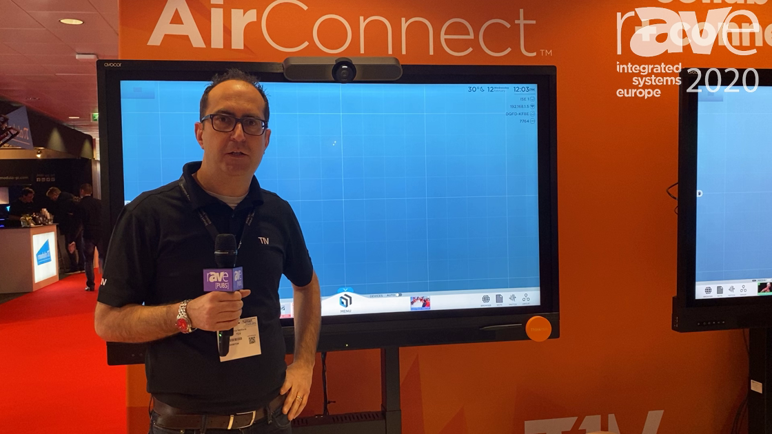 ISE 2020: T1V Demonstrates How ThinkHub MultiSite Improves Realtime Collaboration