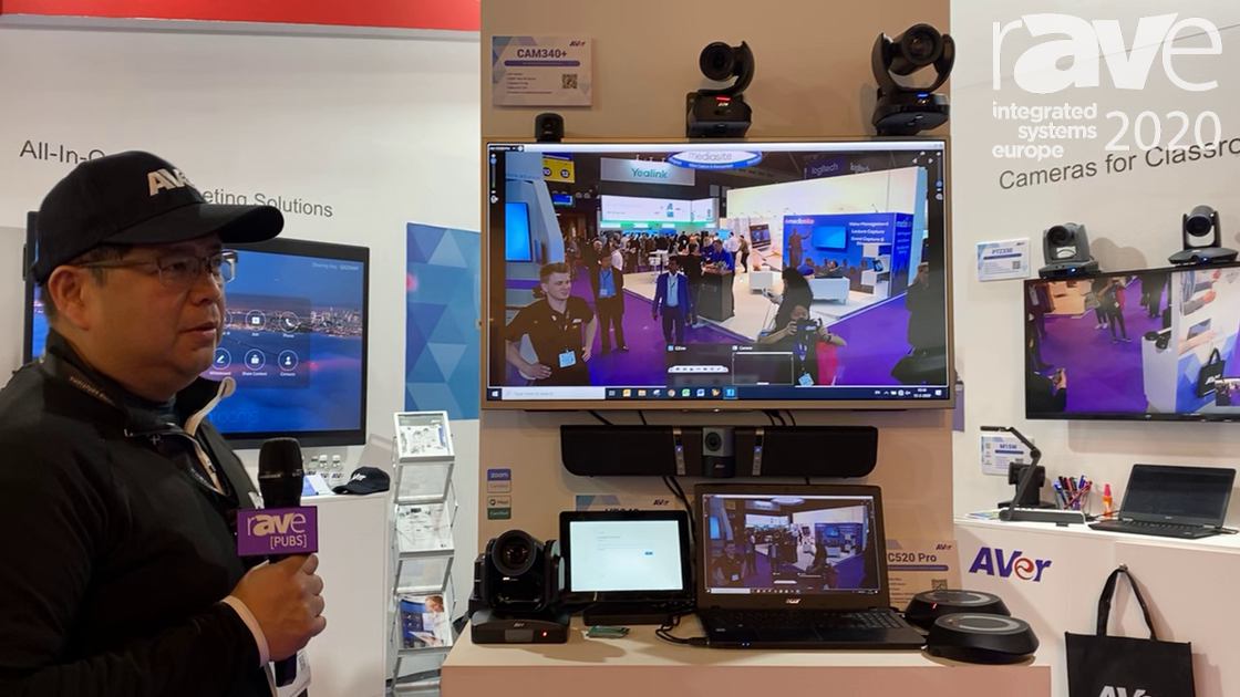 ISE 2020: AVer Explains Solutions for Collaboration Room, EP65 All-in-One Flat Panel with Zoom Rooms