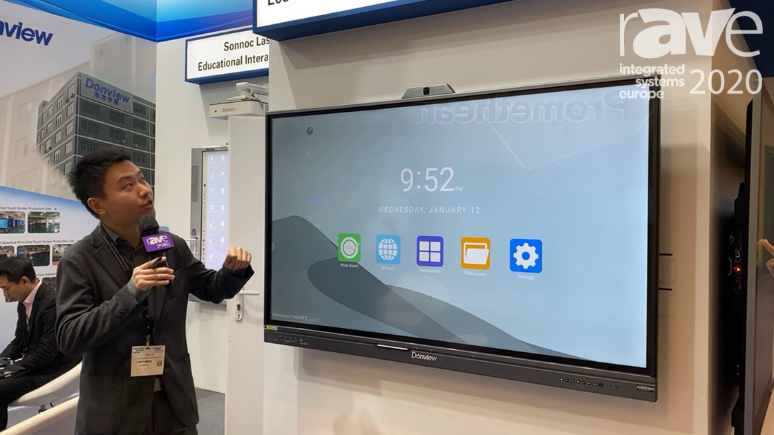 ISE 2020: Donview Exhibits L05 Series Infrared Optical Bonding Touch Panel