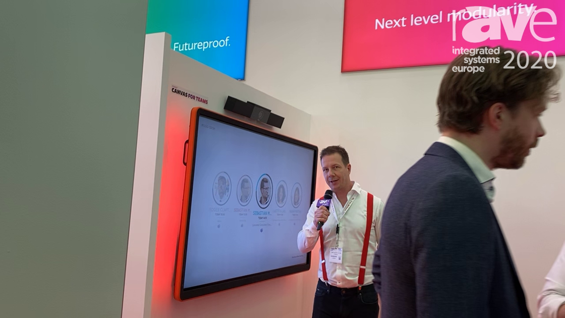 ISE 2020: CTOUCH Demonstrates the Canvas for Microsoft Teams