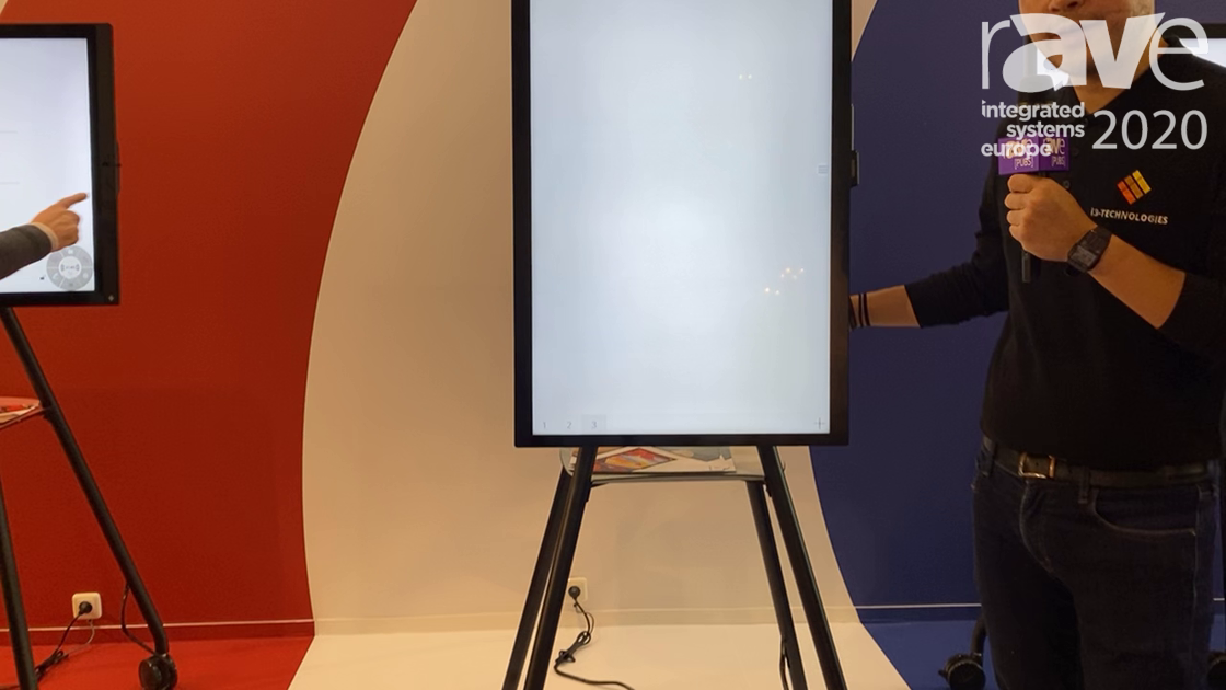 ISE 2020: i3Touch Technologies Demonstrates Its i3Touch 360 Digital Flip Chart Display
