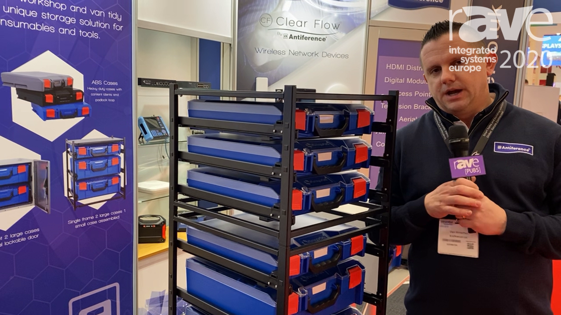 ISE 2020: Antiference Explains The Advantage of Its Storage Tech Tool Storage System