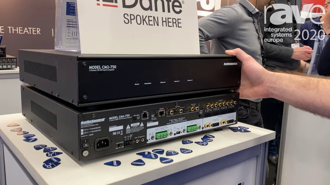 ISE 2020: AudioControl Debuts Its Dante Enabled CM Series of 70V Audio Amplifiers