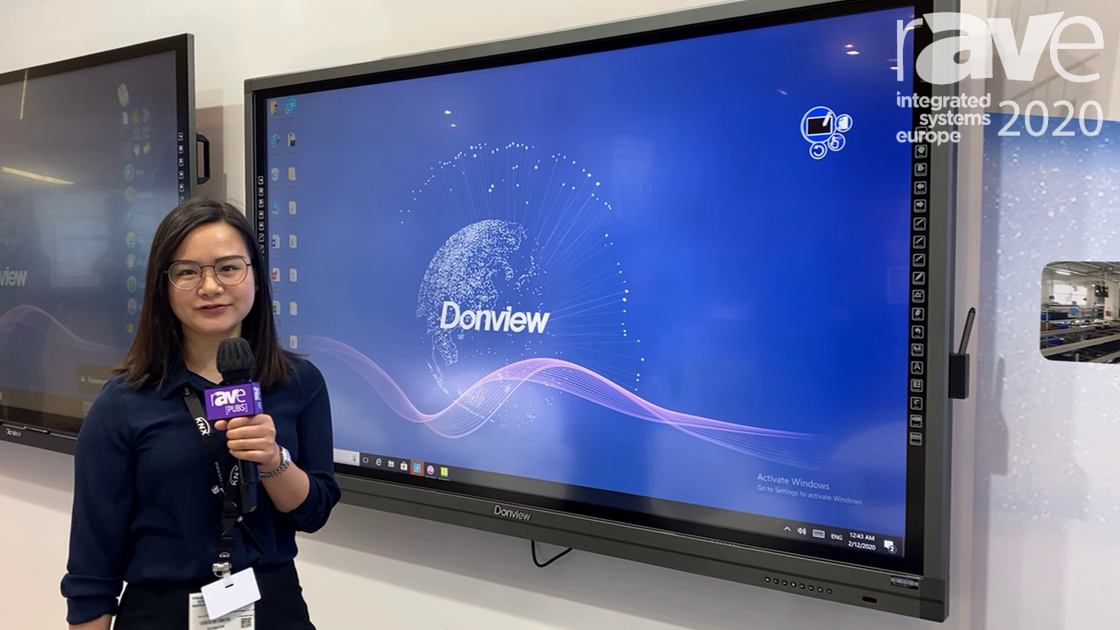 ISE 2020: Donview Highlights L02 Series Infrared Touch Panel with Software