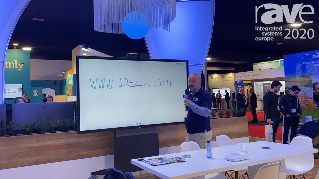 ISE 2020: Dell Technologies Demonstrates Its C8621QT Touch Screen Display