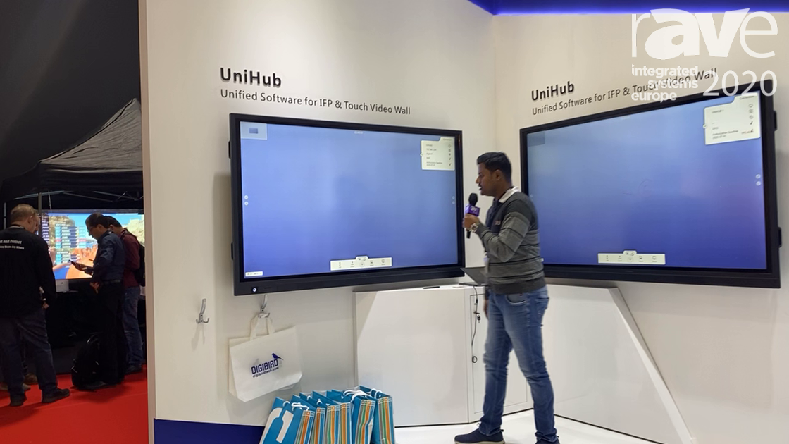 ISE 2020: DigiBird Shows Off Its UniHub Touch Screen Display