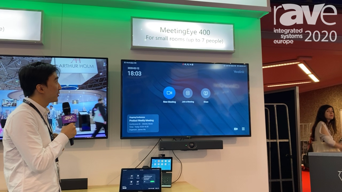ISE 2020: Yealink Presents Its MeetingEye 400 Video Conferencing System