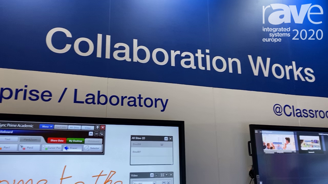 ISE 2020: ELMO Demonstrates Its New Collaboration Works Distance Screen Sharing System
