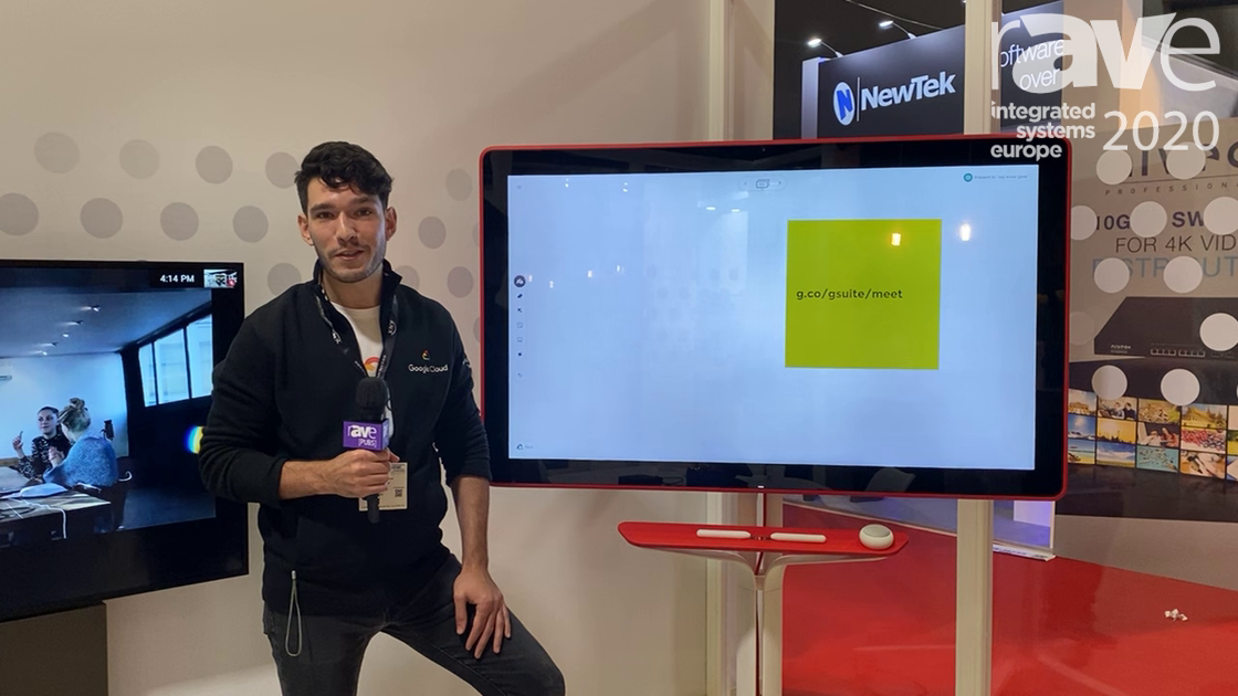 ISE 2020: Demonstrating the Google Cloud Jamboard Touchscreen Display