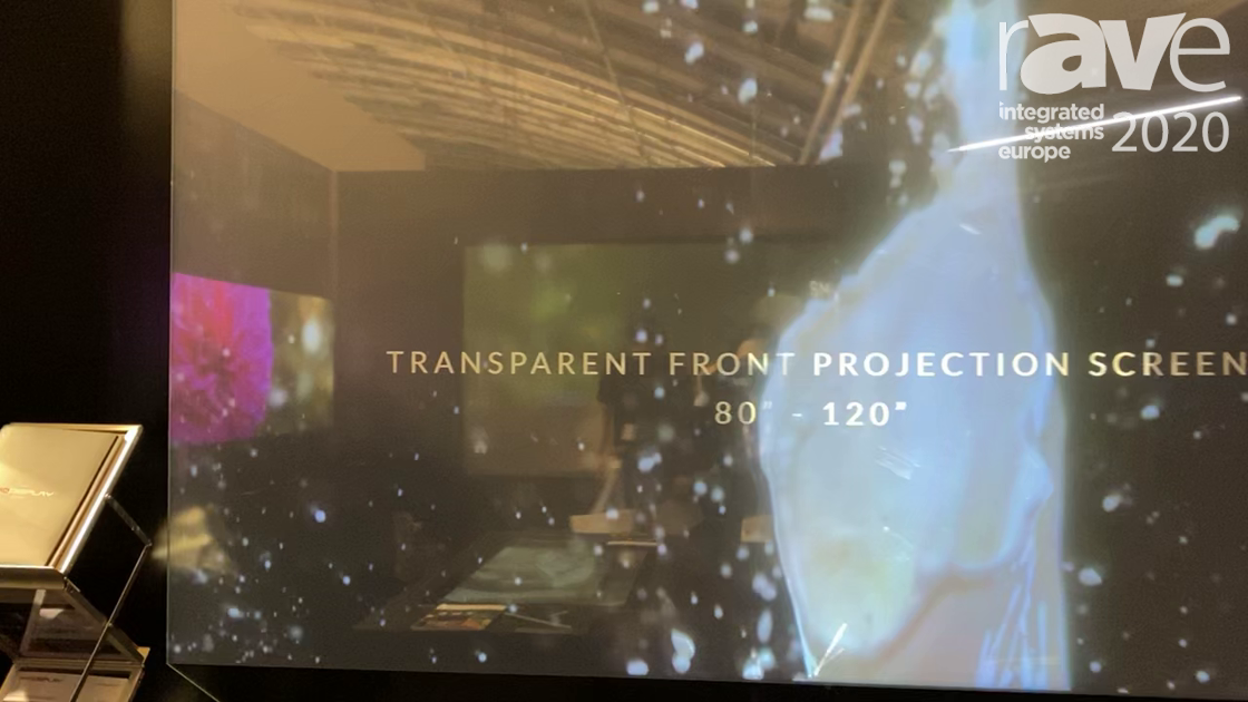 ISE 2020: Pro Display Shows Off Transparent Front Projection Screens