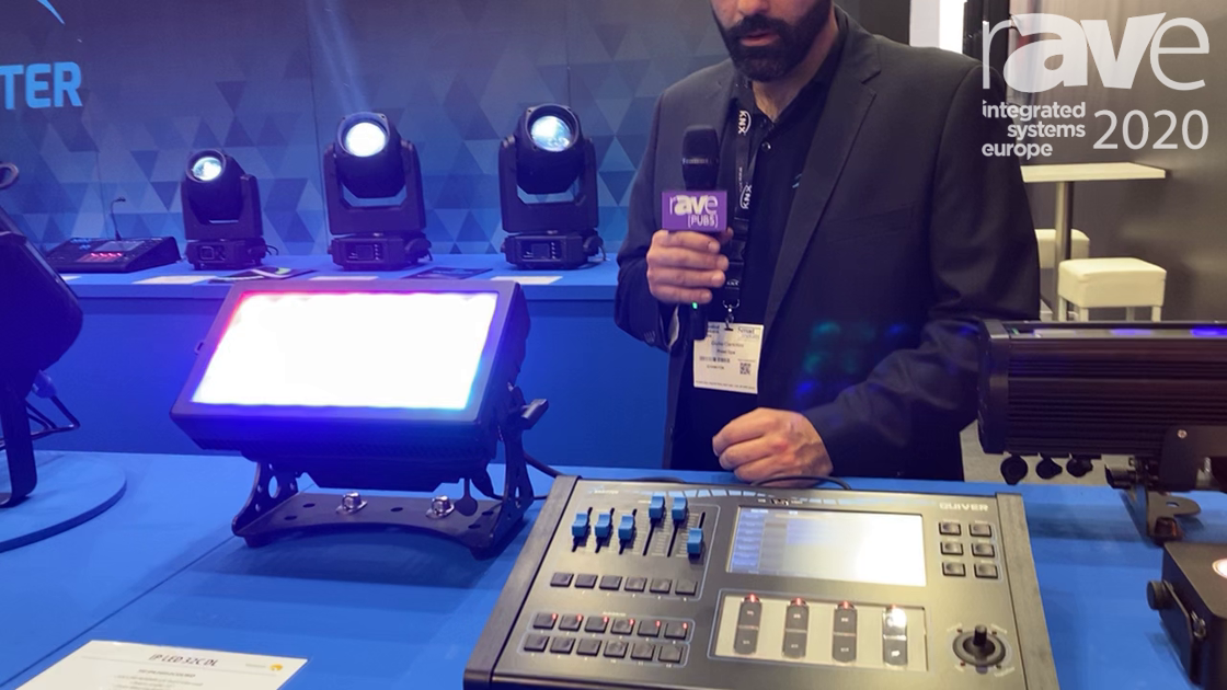 ISE 2020: Sagitter Demos IP LED 32CDL-WD Architectural LED Luminous Flux Beam Light