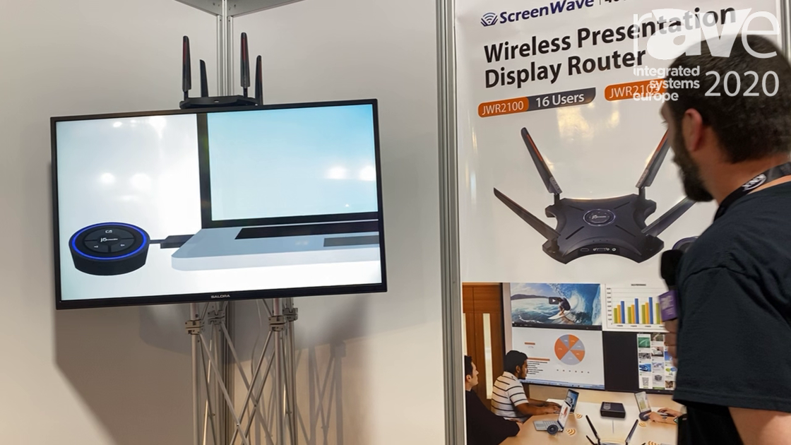 ISE 2020: j5create Shows Off ScreenWave 16-User Wireless Presentation Display Router