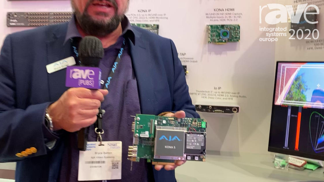 ISE 2020: AJA Details KONA 5, Video and Audio I/O Card Supporting Up to 8K