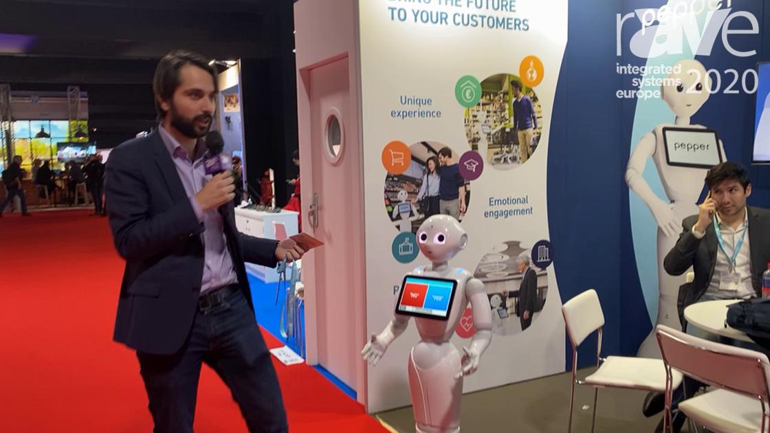 ISE 2020: SoftBank Robotics Europe Demos Pepper the Humanoid Robot