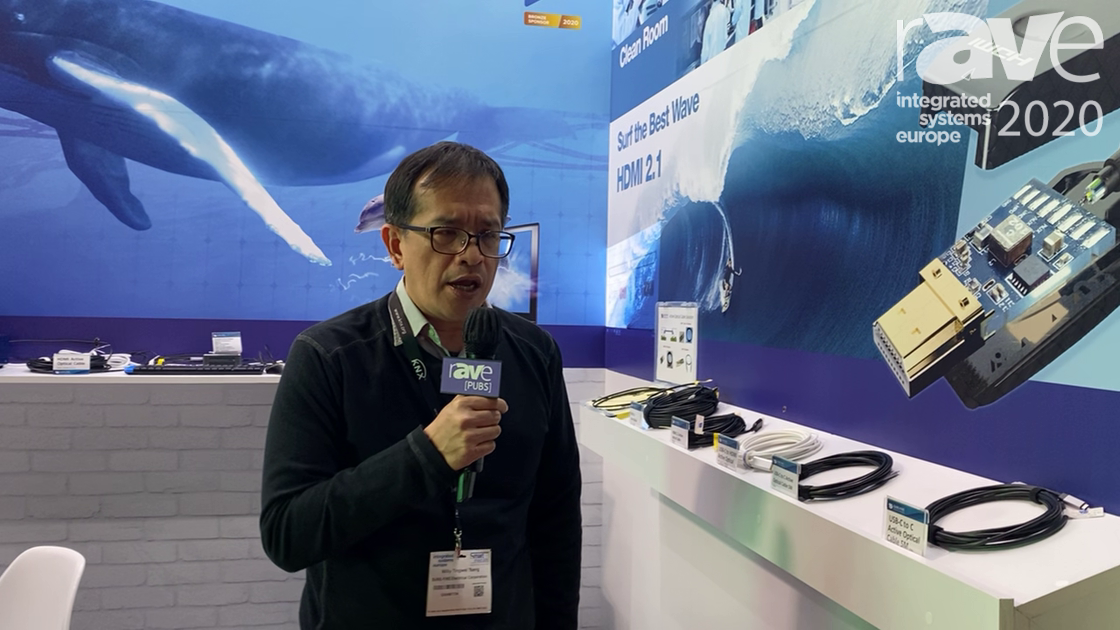 ISE 2020: SURE-FIRE Electrical Corporation Highlights USB-C to HDMI 2.1 Active Optical Cable