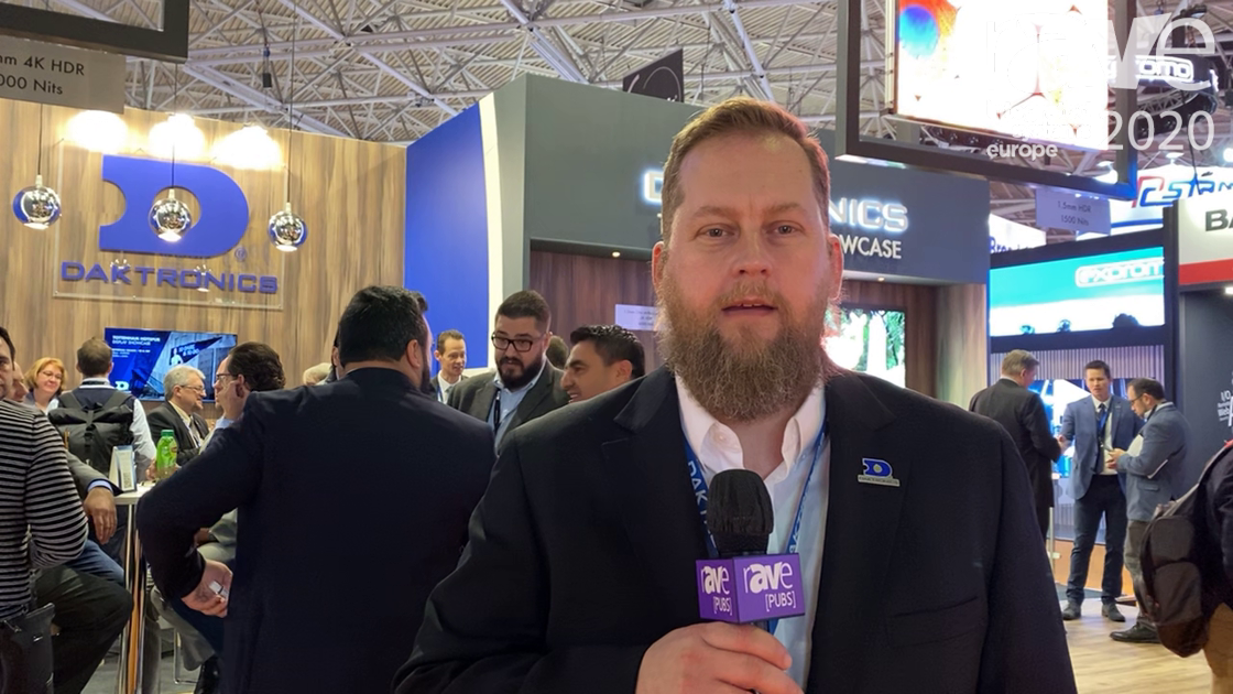 ISE 2020: Daktronics Talks Its 1.2mm and 1.5mm Fine Pixel Pitch 4K HDR Direct-View LED Displays