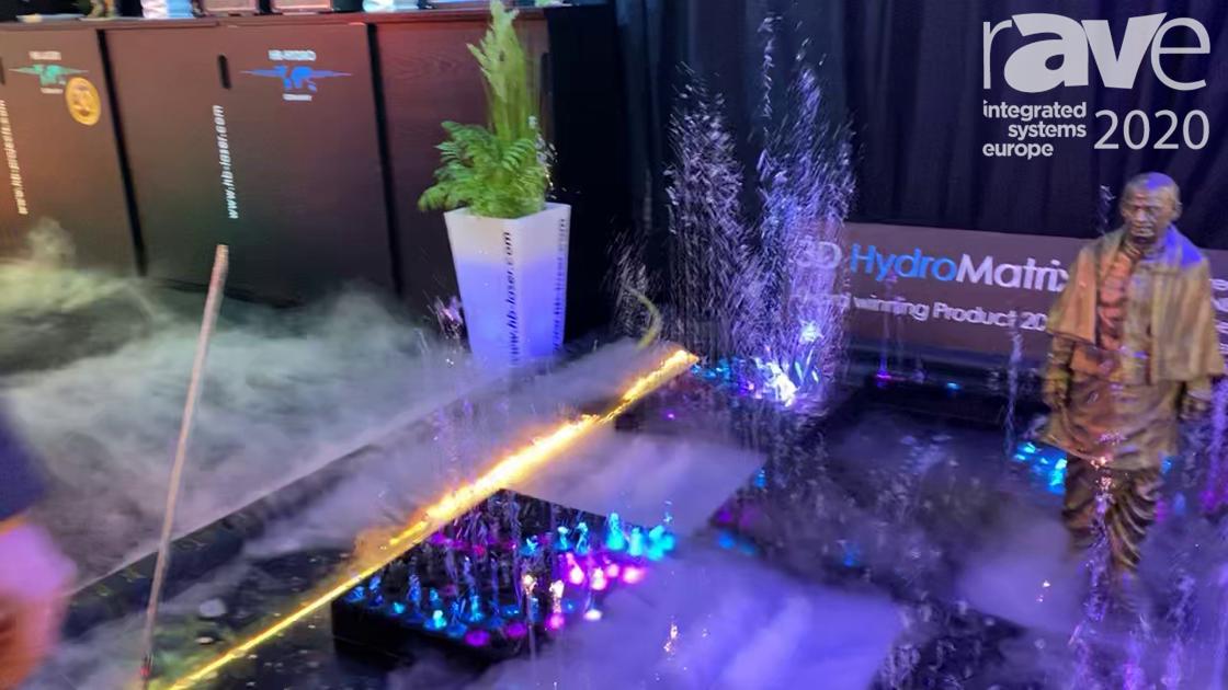 ISE 2020: HB-Laserkomponenten (HB-Laser) Shows Off 3D HydroMatrix Smart Water Fountain Installation