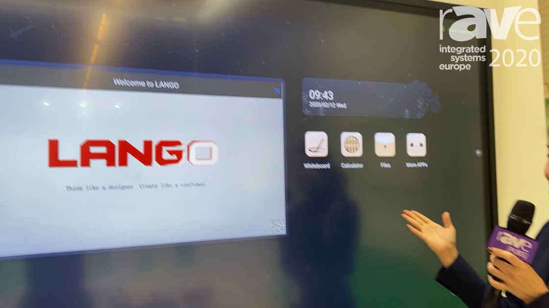 ISE 2020: Guangzhou Lango Electronics Technology Exhibits All-in-One Display for Meeting Rooms