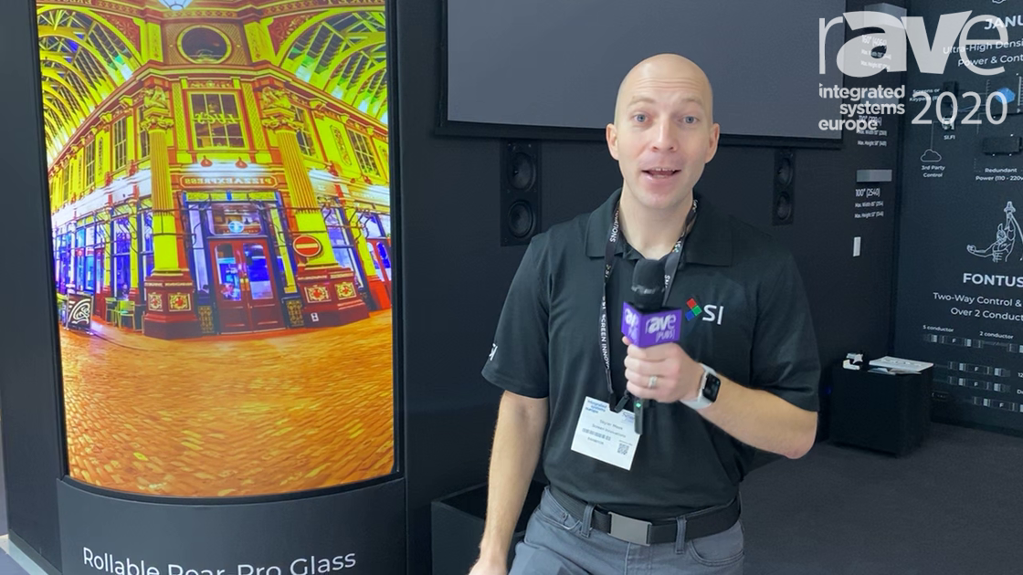 ISE 2020: Screen Innovations Showcases FlexGlass Rollable Rear-Projection Glass with No Hot-Spotting